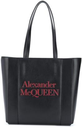 Alexander McQueen Logo-Print Tote Bag