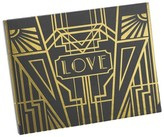 Hortense B. Hewitt Love Art Deco Wedding Guest Book - Black/Gold