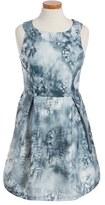 Ruby & Bloom 'Illusion' Floral Print Fit & Flare Dress (Big Girls)