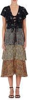 Philosophy di Lorenzo Serafini Women's Floral Ruffle Midi-Dress
