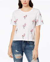GUESS Cotton Flamingo-Print T-Shirt