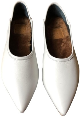 Trademark White Leather Ballet flats