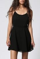 Azalea Black Water Open Back Dress