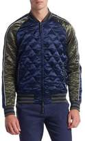 Madison Supply Stand Collar Quilted Jacket