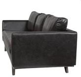 Claverton Down Leather Sofa 17 Stories