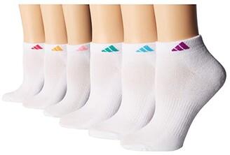 adidas Athletic 6-Pack Low Cut Socks (White/Shock Pink/Glow Orange/Shock Purple/Bright Cyan/Shock Mint) Women's Low Cut Socks Shoes