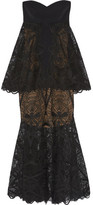 Jonathan Simkhai Tiered Lace Midi Dress - Black