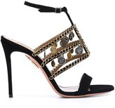 Aquazzura x Naty Abascal chain trim sandals - women - Leather/Suede - 36