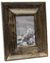 """Threshold 4""""x6"""" Wide Espresso with Gold Accents Wood Frame"""