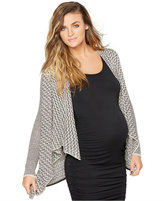 Collective Concepts Maternity Handkerchief-Hem Open-Front Cardigan