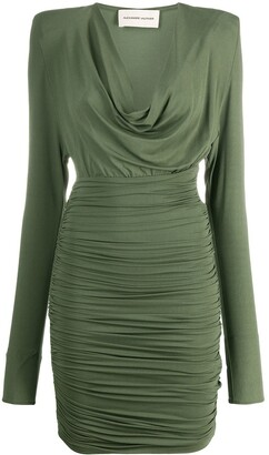 Alexandre Vauthier Structured Shoulder Dress