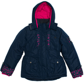 Big Chill Navy Flower Expedition Jacket - Girls