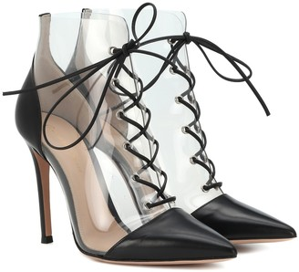 Gianvito Rossi Icon leather-trimmed ankle boots