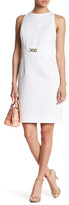Tahari Textured Jacquard Sheath Dress