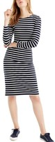 J.Crew Petite Women's Stripe Long Sleeve Cotton Dress