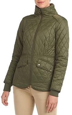 Barbour Hawthorns Faux Fur Trim Quilted Coat