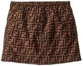 Fendi All Over Logo Skirt (Little Kids/Big Kids) (Brown) Girl's Skirt