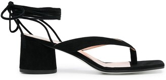 Pollini Ankle Lace-Up Sandals
