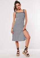 Missguided Petite Black Gingham Cami Midi Dress