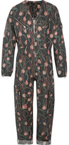 Isabel Marant Laney Floral-print Cotton And Linen-blend Jumpsuit - Black