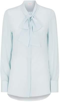 Alexander McQueen Silk Pussybow Shirt