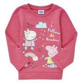 Character Peppa Pig Rainbow Design Sweatshirt, Girl's