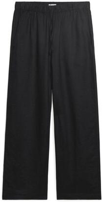 Arket Elastic-Waist Linen Trousers