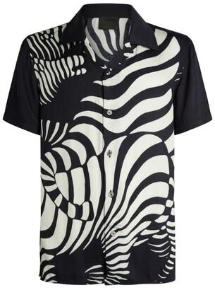 Limitato Short-Sleeved Zebra Print Shirt