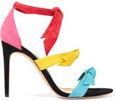 Alexandre Birman Lolita Bow-embellished Suede Sandals - Fuchsia