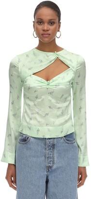 Ganni Stretch Silk Satin Shirt
