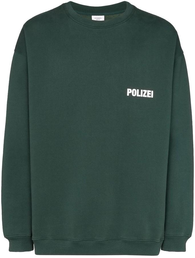 Vetements Polizei-print long-sleeve sweatshirt