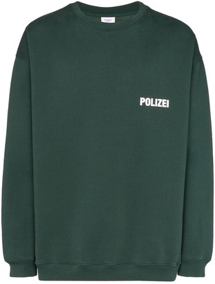 Vetements Polizei-print long-sleeve sweatshirt
