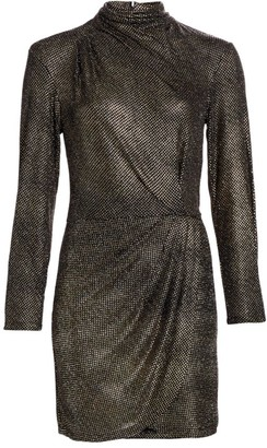 IRO Rasile Turtleneck Metallic Dress