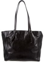Etienne Aigner Woven Leather Tote
