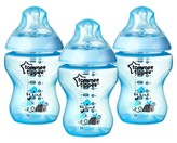 Tommee Tippee Closer to Nature Blue Bottle 3 pk 9 oz.
