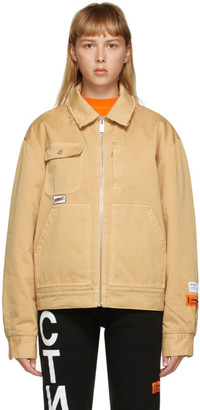 Heron Preston Tan Uniform Jacket