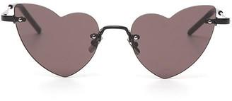 Saint Laurent Eyewear New Wave Loulou 254 Heart-Shaped Sunglasses