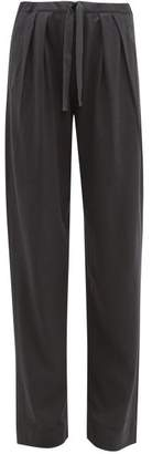 Lemaire Pleated Jersey Trousers - Womens - Dark Grey
