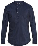 Giorgio Armani Flocked-cotton And Silk-blend Shirt