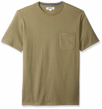 Goodthreads Amazon Brand Men's Short-Sleeve Sueded Jersey Crewneck Pocket T-Shirt