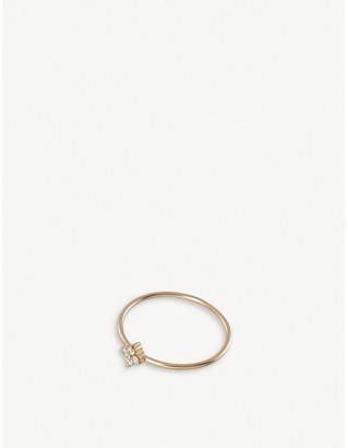 Selfridges Redline 18ct yellow-gold and diamond staking ring