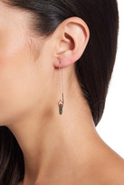 Shashi Harper Threader Sterling Silver Labradorite Crystal Bar Earrings
