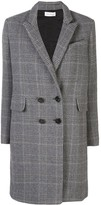 Beau Souci check patterned double-breasted coat