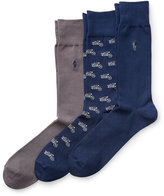 Ralph Lauren Motorcycle Trouser Sock 3-pack