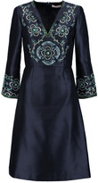 Tory Burch Embellished silk-gazar dress