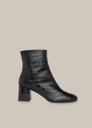 Elora Croc Block Heel Boot