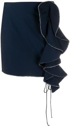 For Love & Lemons Ruffle Detail Skirt
