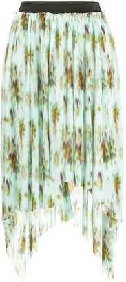 Frankie Morello Abstract-Print Asymmetric Skirt