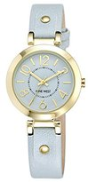 Nine West Women's NW/1712LBLB Gold-Tone and Light Blue Strap Watch