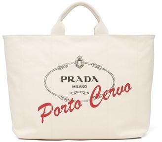Prada Logo-Print Tote Bag